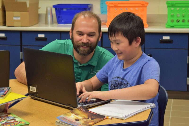 Loess Hills teacher and student