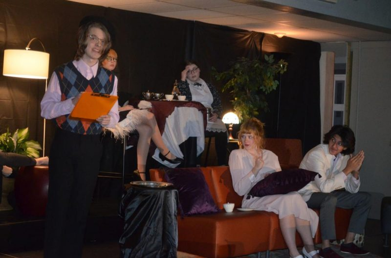 East High School Students Perform Murder's in the Heir. Photo by Early Horlyk Sioux City Journal.