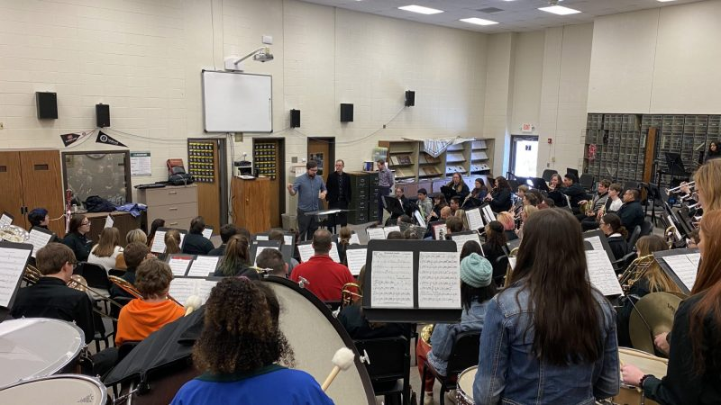 West High hosts USD band clinic.