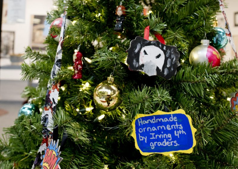 Irving Dual Language Elementary School Christmas Tree. Photo by Sioux City Journal