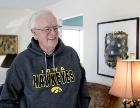 Mike McTaggart in his Sioux City Home. Photo by Jesse Brothers Sioux City Journal