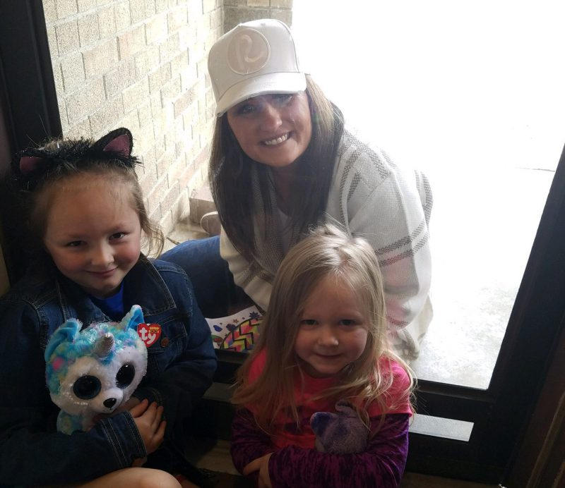 Mrs. Bemus visits students at home during COVID-19 school closures