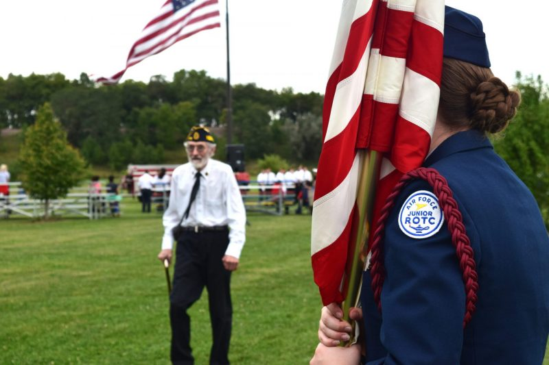 JROTC in Uniform with Flag