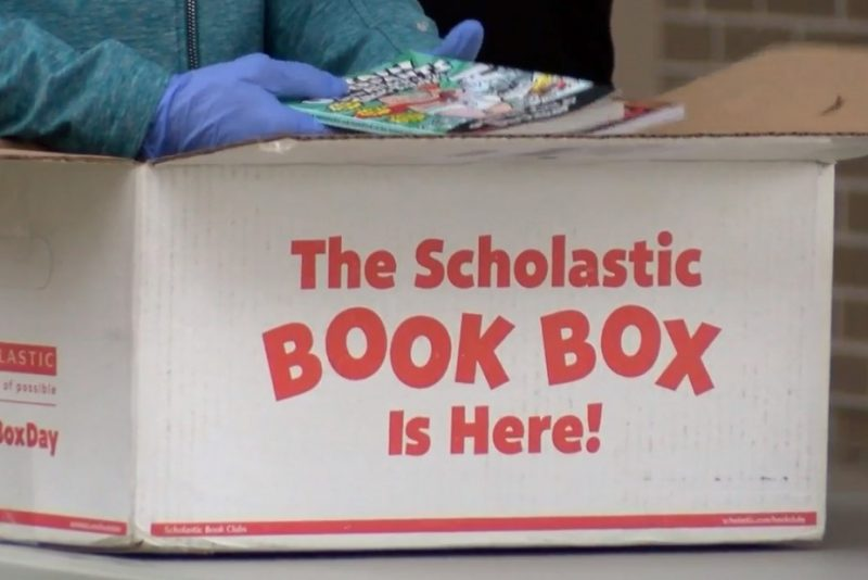 Spalding Park Environmental Sciences Elementary School provides books to students during COVID-19 Pandemic