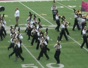Band on the field at Starfest 2019. Image by KTIV
