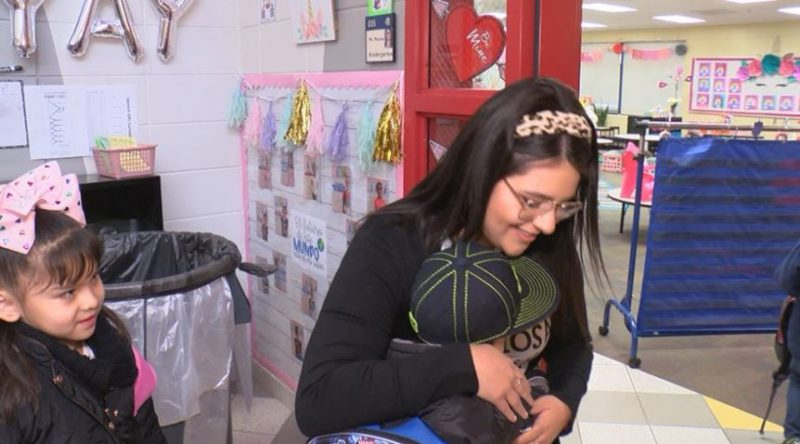 Students at Irving Dual Language Elementary Receive Morning Greeting