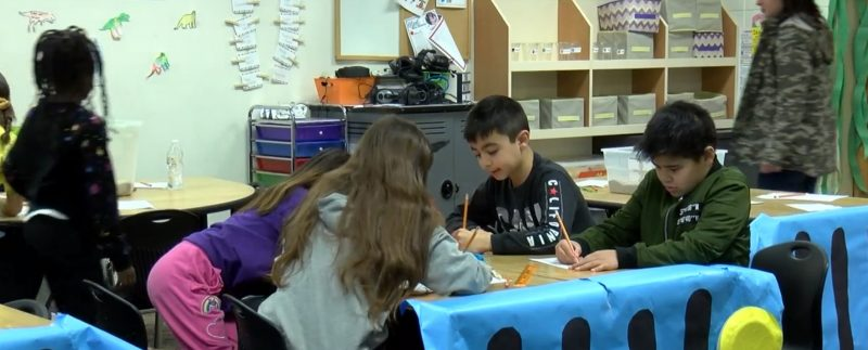 In January 2020, students at Liberty Elementary dig up fossils