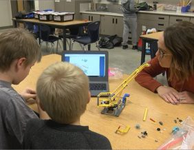 Students at Loess Hills Computer Programming Elementary participate in Lego League. Photo by Connor Foster KTIV.