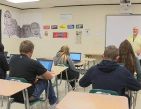 Students at West High Participate in the Iowa Youth Straw Poll Photo By Leslie London KTIV