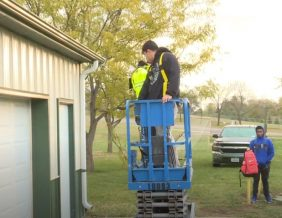 Students receive scissor lift certification through the Sioux City Career Academy