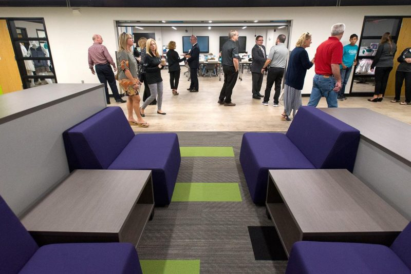 Visitors explore the Sioux City Career Academy during an open house in September 2018. Justin Wan, Sioux City Journal.