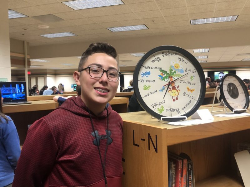 Students at West Middle present their Future Ready projects by incorporating math into clocks