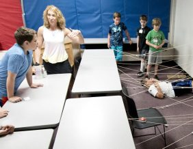 Dontrell Robinson, a fifth-grader at Leeds Elementary School, tries to negotiate his way out of a