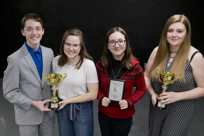 From the left, Carter Vanderloo, Whitney Lester, Claire Hendrich, and Leai Britton. Photo by Jesse Brothers, SCJ