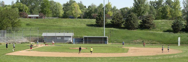 Members of the North High School baseball team practice Monday morning at the school's Bud Speraw Field. Photo by Tim Hyndes, Sioux City Journal.