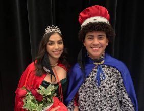 Pictured is the North High Homecoming King and Queen 2020. Left: Mayra Ramirez, daughter of Lorena and Ismael Ramirez. Right: Jorge Morales, son of Kimberly Orellana and Oscar Varela.