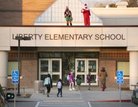 Elves on the Shelf at Liberty Elementary