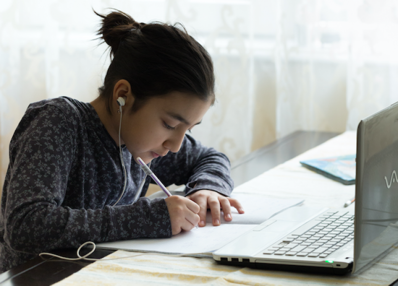 Districts launching virtual academies post COVID are providing both synchronous and asynchronous online learning. Photo by AdobeStock & Chinara