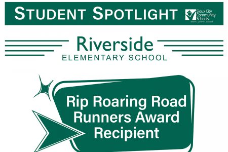 Student Recognition Signage - Student Spotlight - Riverside Elementary School - Rip Roaring Road Runners Award Recipient