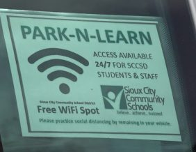 Wi-Fi Hotspots set-up at six locations in Sioux City. Photo by Mitti Hicks, Fox News
