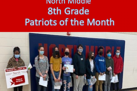 NMS Student Spotlights March 2021 8th Grade