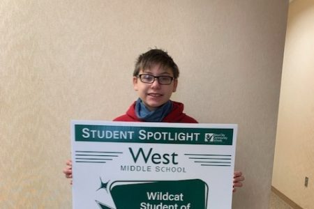 WMS Student Spotlight Feb 2021 Anthony Armstrong 6th Grade