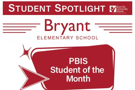Student Recognition Signage - Student Spotlight - Bryant- PBIS Student of the Month