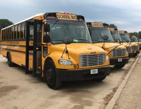 SCCSD School Buses in a line