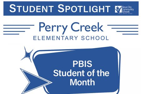 Student Recognition Signage - Student Spotlight - Perry Creek Elementary - PBIS Student of the Month