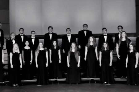 Black & White Image of NHS Choir in Concert Attire