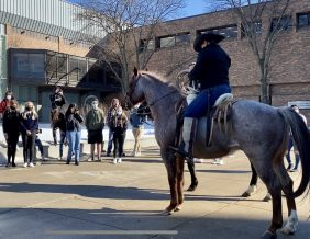 FFA students learn about horses during national FFA week 2021