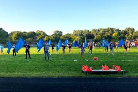 NHS Color Guard in Full Uniform Performs at Show 2019