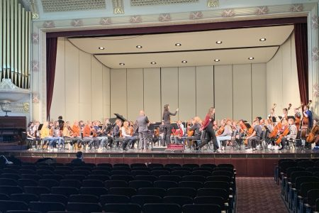 NHS Orchestra Performs on Stage at the USD Festival in 2020