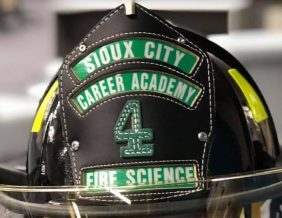 Sioux City Career Academy Fire Science Helmet