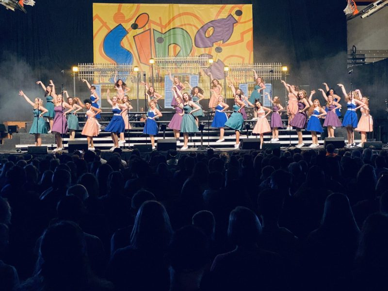 Students at East High School Perform at the Sing All About It Show Choir Competition