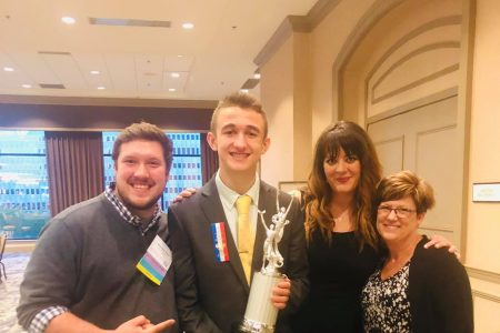 EHS Debate Coach, Student, and Supporters Celebrate Success
