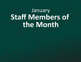 September Staff Members of the Month