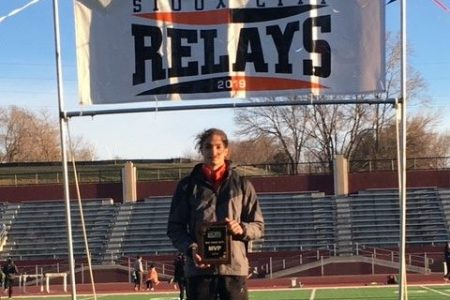 East High School Track Star First Place Finish at Sioux City Relays