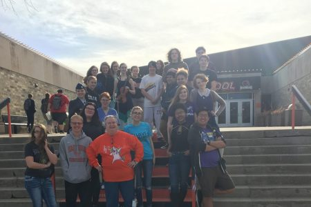 EHS 2020 Orchestra Students Picture in Front of East High