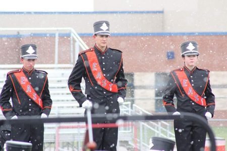 EHS Drum Majors Lead the Marching Band
