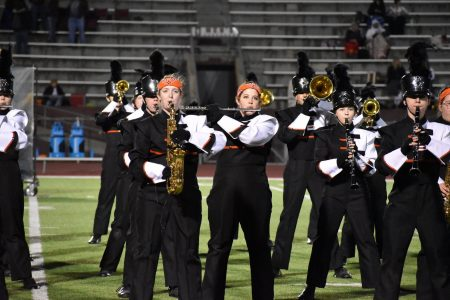 EHS Marching Band Entertains the Football Crowd