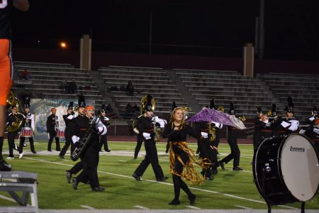 EHS Marching Band Performs with Color Guard