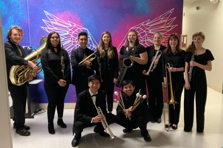 EHS Students Pose While at North West Iowa Honor Band