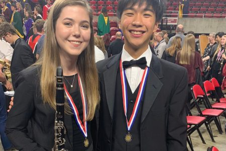 EHS Students Pose While at All State Band