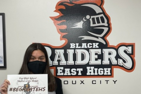East High Student of the Month Neida Padilla Navejas 9th Grade