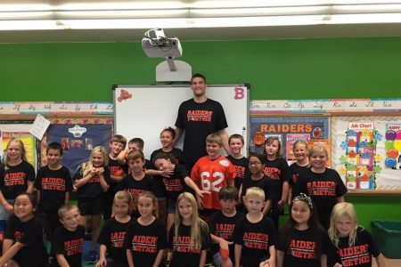Raiders Together High School Students Spread School Spirit at Elementary Schools