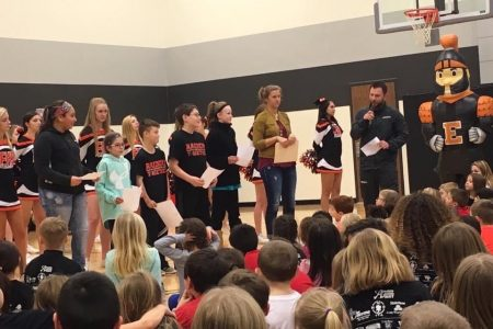 Raiders of Character Recognition at School Assembly