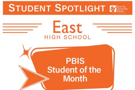 Student Recognition Signage - Student Spotlight - East High- PBIS Award Recipient