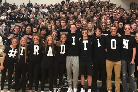 Student Section at EHS Basketball Game
