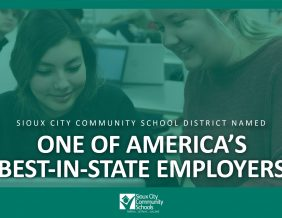 Sioux City Community School District Names One of America's Best-in-State Employers
